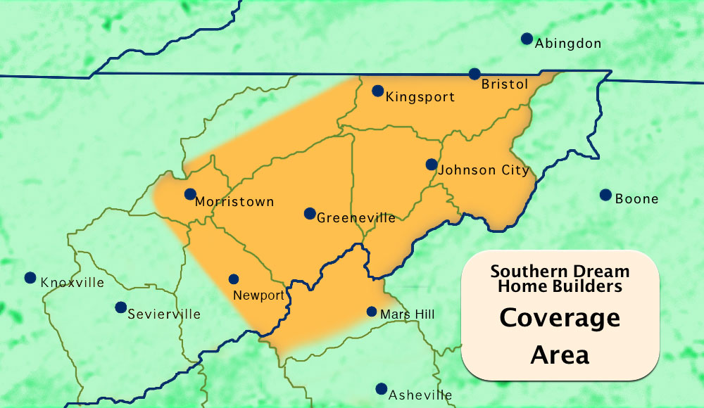 Our Service Area In East Tennessee And North Carolina Southern - East tennessee map