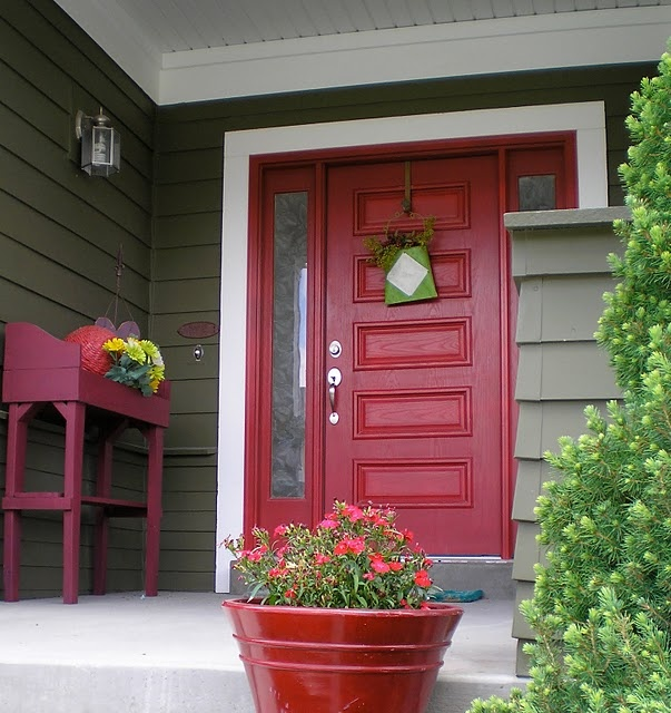 The red door southern dream home builders - Door colors for brown house ...